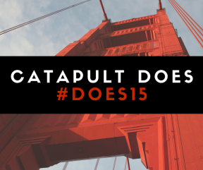 "Images need not be complicated and time consuming to create. This image was created for a blog post explaining how Catapult PR-IR ""does"" its job so well at the annual DevOps Enterprise Summit (DOES)."