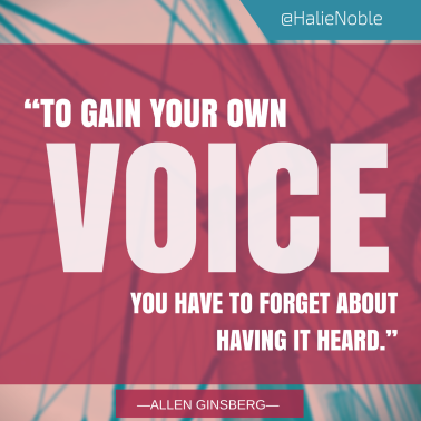 Turing an inspirational quote into an image is a quick and easy way to add flair to any blog, social media or other online post. This one I whipped up quickly for one of my own blog posts.